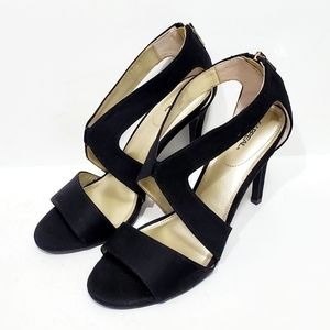 Xappeal Black Strappy Suede Heels Size 9